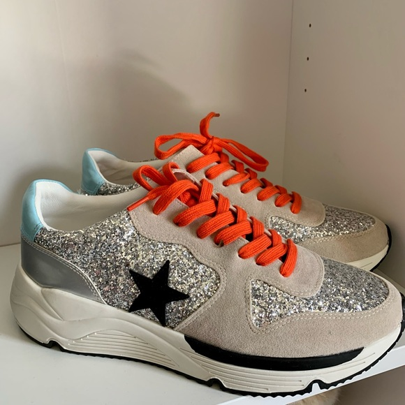 Silver Sparkle Superstar Runners Sneakers